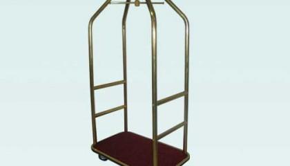 Луксозна багажна количка месинг