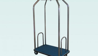 Луксозна багажна количка – inox